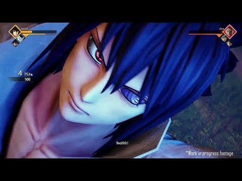 JUMP FORCE Gameplay Sasuke Vs Zoro (E3 2018)
