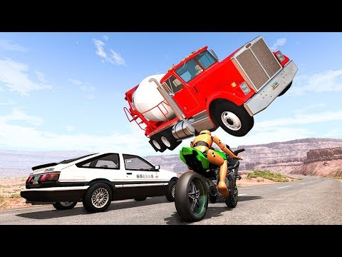 Street Race Crashes #20 - BeamNG DRIVE | SmashChan
