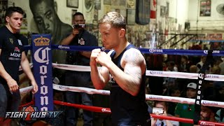 Carl Frampton's Complete Media Workout ahead of Leo Santa Cruz fight- Santa Cruz Frampton video