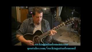 How to play Earth Angel by The Temptations on guitar by Mike Gross