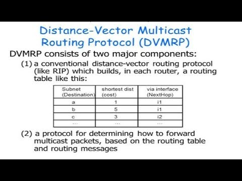 DISTANCE VECTOR MULTICAST ROUTING PROTOCOL-DVMRP (HINDI+ENGLISH)