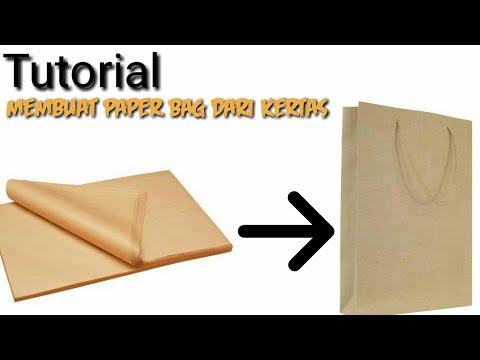 Cara mudah membuat paper bag dari kertas kado