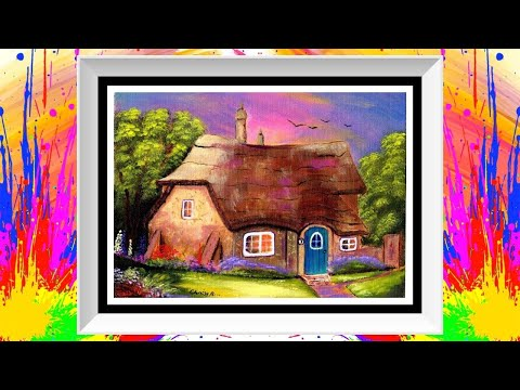 Cottage In The Country Acrylic Painting Demonstration Live