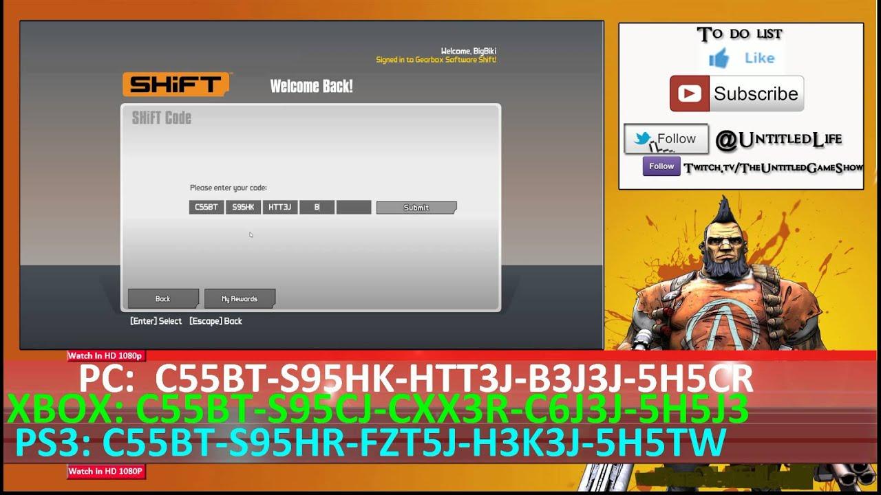 New SHiFT Code Alert ☢ 20 Golden Keys Borderlands The Pre ... Borderlands Pre Sequel Shift Codes