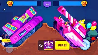 Tank Stars Update - PINKY Tank vs DUBSTEP Tank | All Boosters | (iOS, Android)