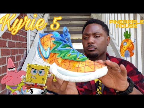 Nike Kyrie 5 SPONGEBOB PINEAPPLE HOUSE FULL REVIEW with Joso