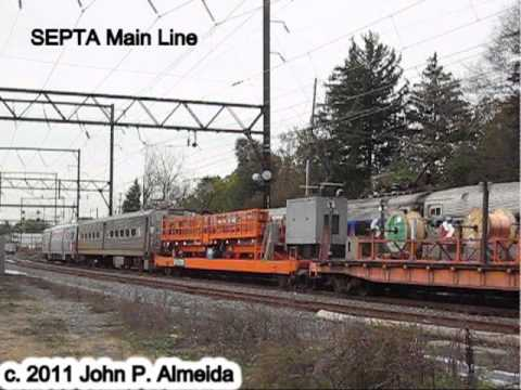 SEPTA Wire train and Train 432 October 31 2011