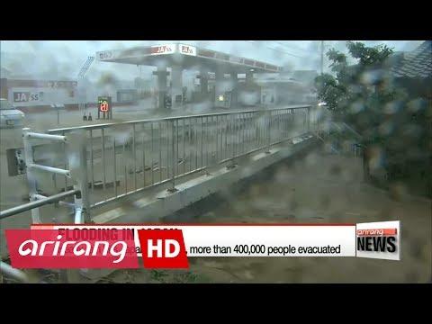 Heavy rain hits Japan's Kyushu, more than 400,000 people evacuated