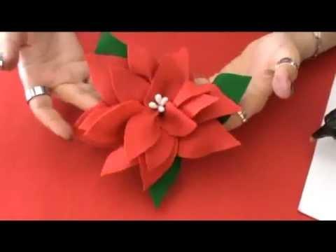 Stella Di Natale In Stoffa.Stella Di Natale Fai Da Te Youtube