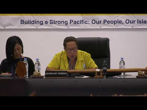 PACP Opening Remarks from Meg Taylor DBE, Secretary General, Pacific Islands Forum Secretariat
