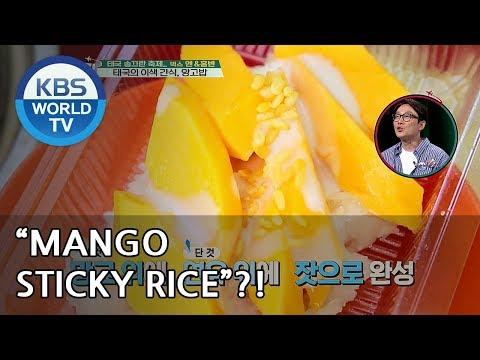"Hongbin X N 's first time eating  ""Mango sticky rice"" XD  [Battle Trip/2018.06.10]"