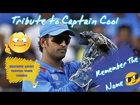 M.S.Dhoni -Remember The Name Tribute to Captain cool