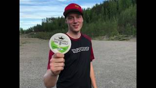 Tarinalaakso Disc Golf Hole One Birdie Club, First Member: Simon Lizotte 16.6.2018