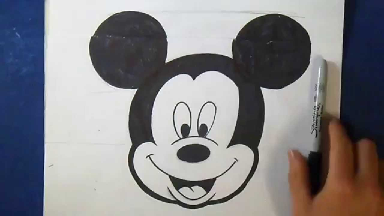 Comment dessiner mickey mouse youtube - Dessiner mickey ...