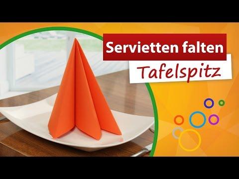 Häufig ♥ Servietten falten Tafelspitz ♥ 3 Falten - trendmarkt24 - YouTube IS03