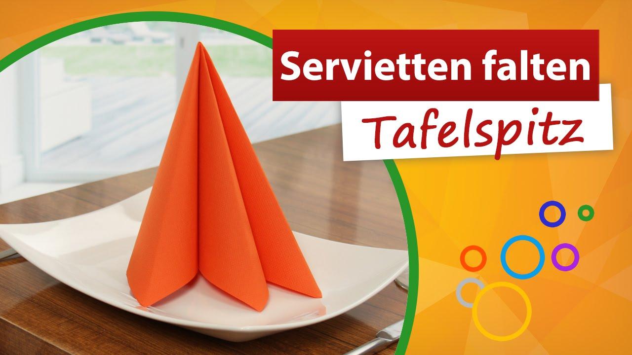 Favorit ♥ Servietten falten Tafelspitz ♥ 3 Falten - trendmarkt24 - YouTube LF45