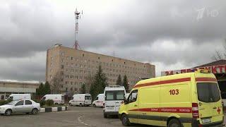 В Департаменте здравоохранения Москвы объяснили пробку из машин скорой помощи в Химках.