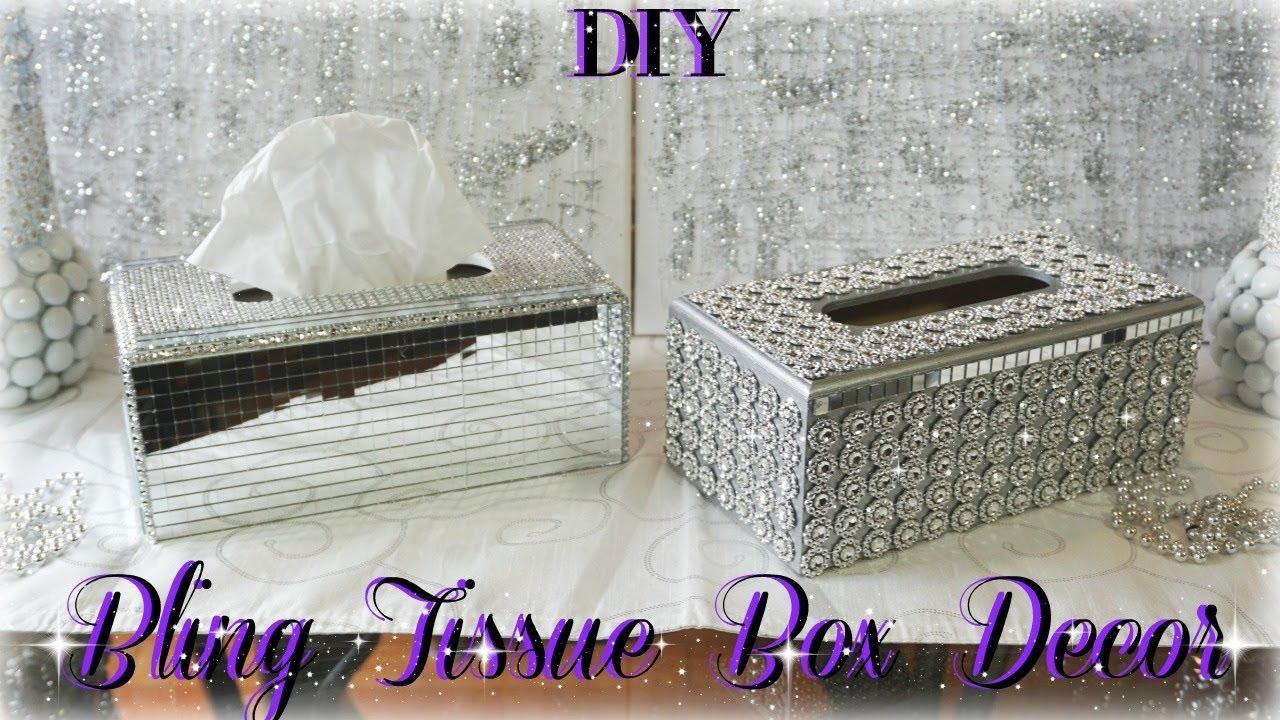 Diy Glam Tissue Box Holders Dollar Bling Room Decor