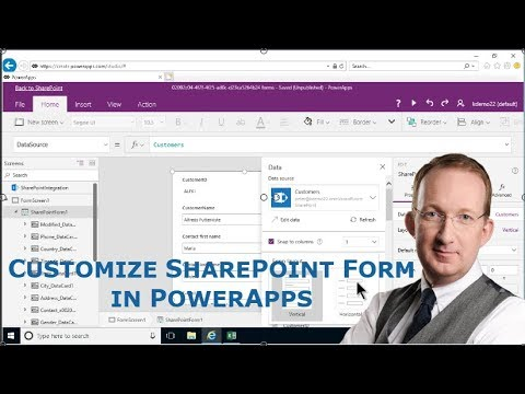 Customize a SharePoint List Form in PowerApps