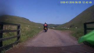 Near Barrowburn Farm Tea Rooms testing S100 K1 motorcycle action cam