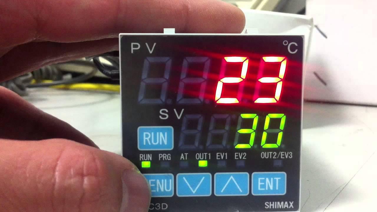 SHIMAX MAC3 溫控器基本設定 - YouTube