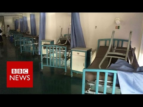 Inside a Venezuelan hospital: 'If people come with cardiac arrest, they die' - BBC News