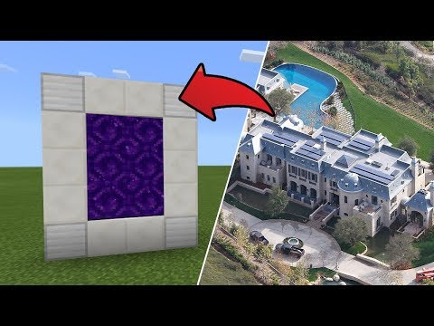 How To Make A Portal To The $50M House Dimension In MCPE (Minecraft PE)