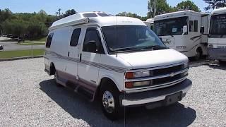 2001 Road Trek 200 Popular Class B Camper Van, Widebody, Chevrolet , Low Miles, KING BED,  $24,900