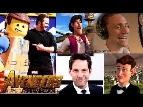 Avengers Infinity War Cast Animated Movies - Robert Downey Jr. & Tom Holland 2017
