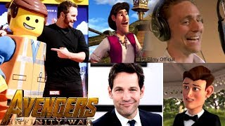 Avengers Infinity War Cast Animated Movies - Robert Downey Jr. & Tom Holland 2017