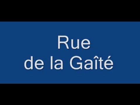 Rue de la Gaîté Paris Arrondissement  14e