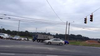 Peterbilt 357 dump truck jake brake