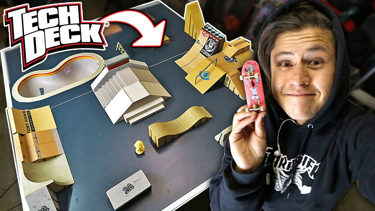 Fingerboard Skatepark Out Of Tech Deck Ramps Youtube