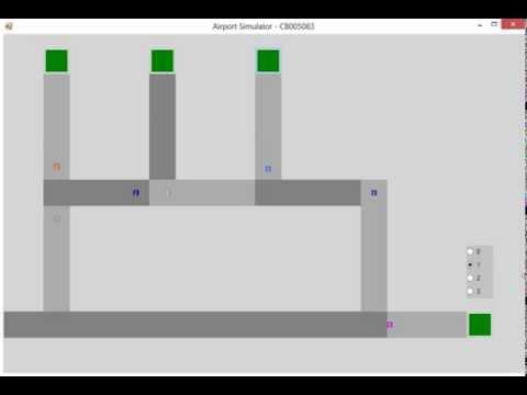 Concurrent Airport Simulator in C#