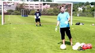 soccer goalie drills reaction training angles and the ready position