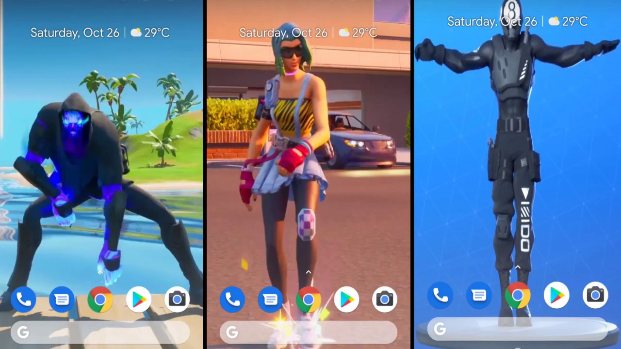 Fortnite Chapter 2 New Dances And Emotes Android App Live Wallpaper Youtube