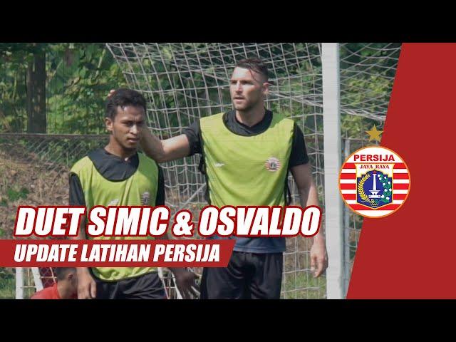 Kolaborasi Simic dan Osvaldo di Sesi Internal Game | Update Latihan Persija