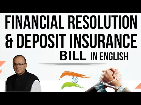 (English) FRDI bill 2017 - Financial and Deposit Insurance Bill 2017 - Know all about it