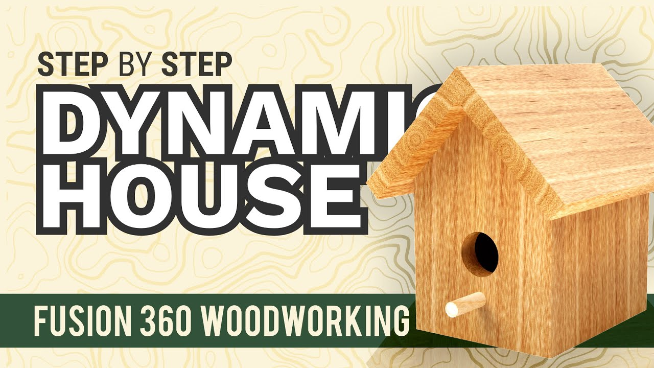 Fusion 360 Beginners for Woodworkers: One-Board Birdhouse