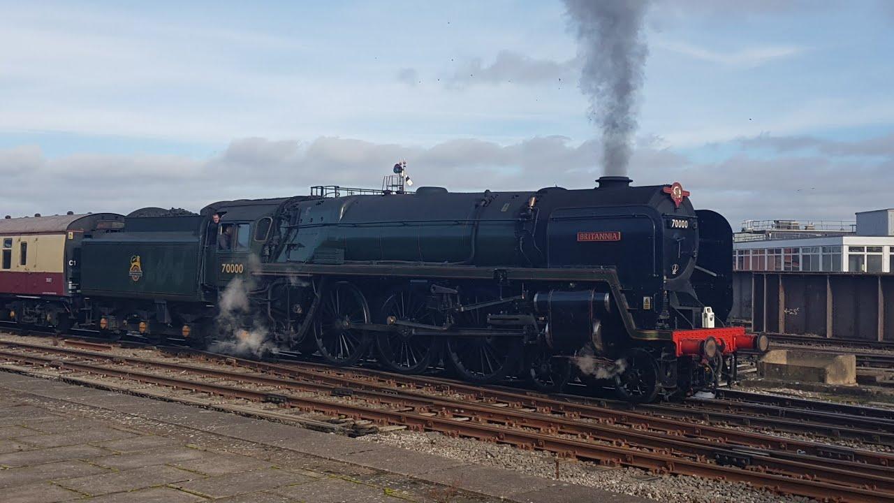 BR Standard Class 7 70000 Britannia Shrewsbury 24/10/2018