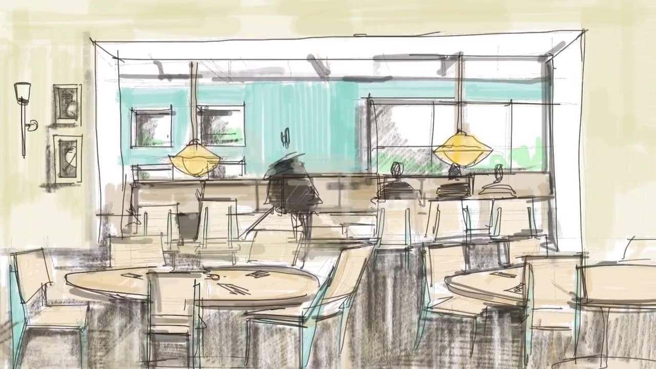 Procreate: Dibujo Del Restaurante Abasto En En El Barrio