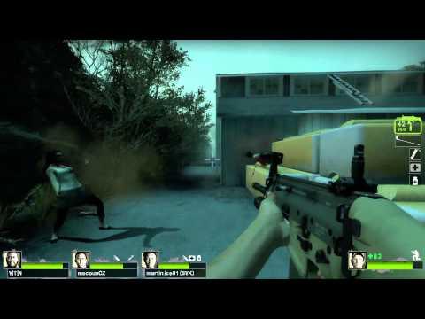 Left 4 Dead 2 Multiplayer Playthrough / Gameplay Part 2 Dark Carnival Ellis Full HD 1080