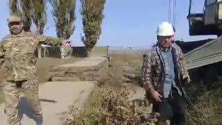 Представники ГФ «Аскер» зупинили спробу продажу аеродромних плит в селі Атамань Генічеського р-ну