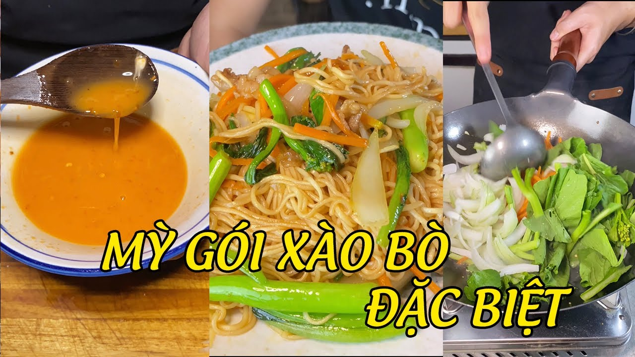 MÓN NGON PHẢI THỬ 3 - Mỳ Gói Xào Bò với công thức sốt chua cay đặc biệt của ông Anh thích nấu ăn