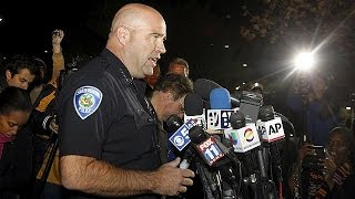 US police name suspects in San Bernadino shootings in which 14 people died