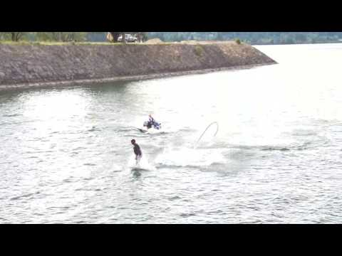 Water jet pack dolphin diving