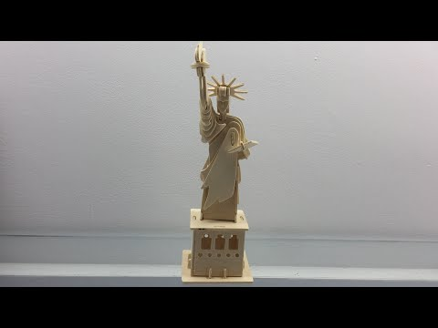 How to make a wooden STATUE OF LIBERTY?