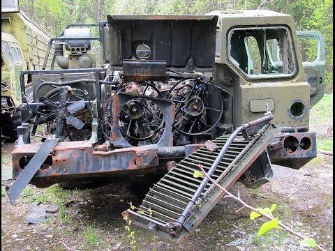 Заброшенный МАЗ 543 Ураган МАЗ-7310 «Смерч»