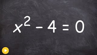 algebra 2 when is the square root positive or negative x 2 4 0