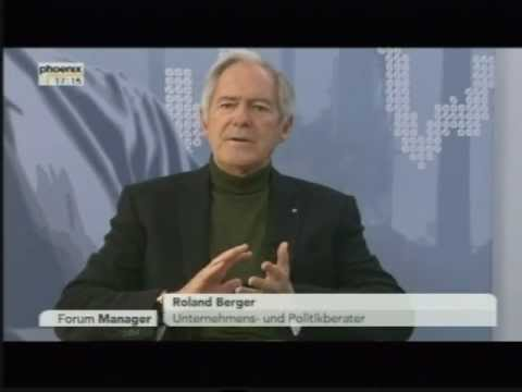 TV Phoenix - Forum Manager - Interview Roland Berger - Teil 1 von 2